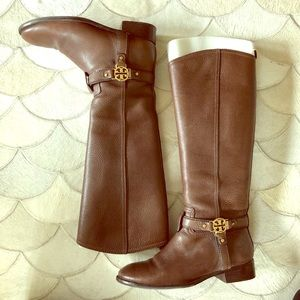 Chocolate Brown Tory Burch Riding Boots